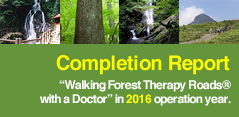 Completion Report Walking Forest Therapy Roads® with a Doctor in 2016 operation year.